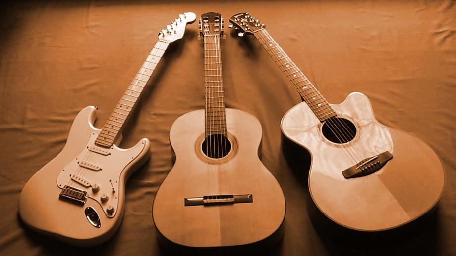 Foto drei Gitarren Dreieck 1