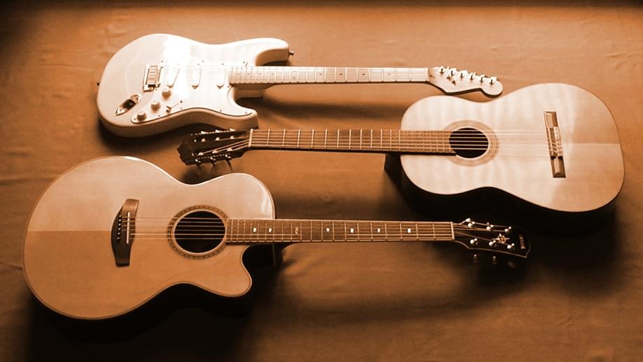 Foto drei Gitarren horizontal 2